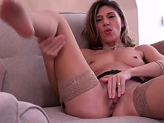 Hot MILF with hairy and hungry pussy