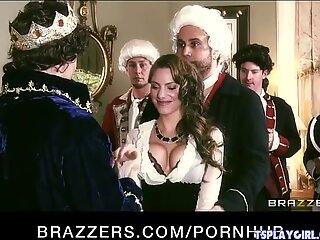 Four Victorian age call girls seduce their king into a HOT orgy