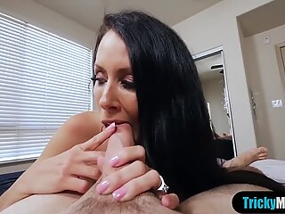 Wake up taboo fuck with my busty cougar stepmother
