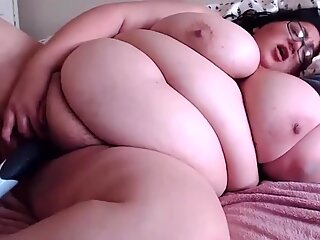 Horny latin BBW Lucy with hairy armpits romps huge poon