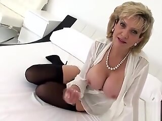 Unfaithful english milf lady sonia reveals her giant hooters