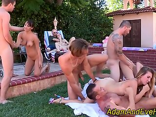 Babe cum soaked at orgy