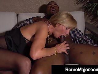 Hot Grandma Presley St Claire Fucks Rome Major's Black Cock