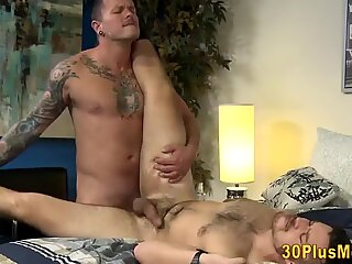 Hairy hunk gets fucked anally