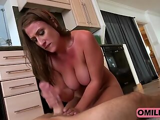 Brunette Milf Skyler Rides Big Schlong In Kitchen