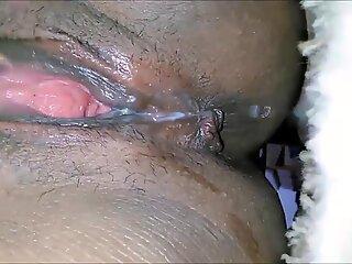 Ebony Wife reaching a squirting orgasm