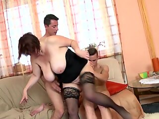 stunning big-titted mommy fuck two not her sons