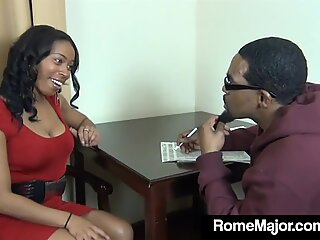 Black Mommy Fucker Rome Major Bangs Student's Mother!