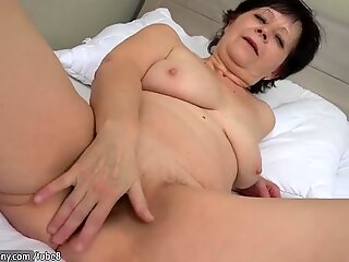 OldNanny Granny with pretty girl masturbating pussy with dildo