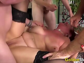 Golden Slut - Mature Gangbang Comp 3