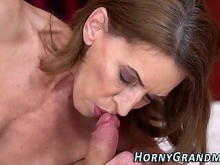 Lusty grandma tongued