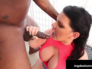 Is She Naughty or Nice? Cuban BBW Angelina Castro Gets Black Santa Cock!