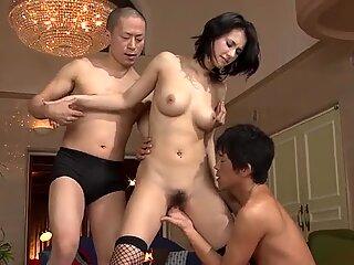 Tough threesome fuck with Maria Ozawa