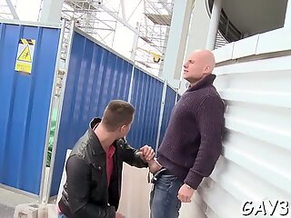 Jock bouncing after blow