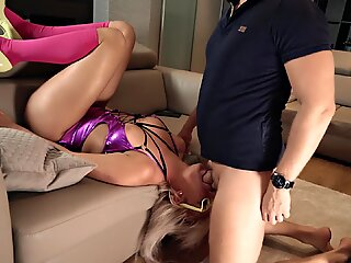 Submisive Slut is Rogh FaceFucked and Anal Pounded (Ass to Mouth) PT 2 of 3