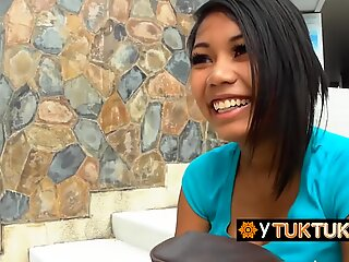 THICK busty FILIPINA gets fucked and creampied by HAIRY dude