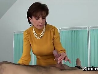 Adulterous english mature lady sonia shows her huge melons